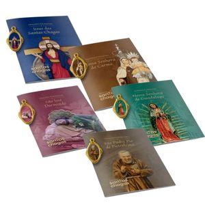 Kit com 5 Livreto de Novena Oração com Medalha ou Mimo de Devoção