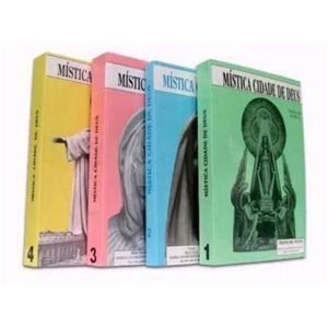 Kit Livro Mística Cidade de Deus Volume 1,2,3 e 4