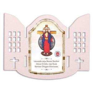 Imã de Geladeira Jesus das Santas Chagas Capela e Oração