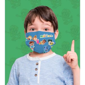 Máscara da Turma do Manzottinho Azul