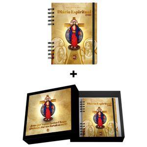 Caixa Quadro Decorativo Jesus das Santas Chagas + Diário Espiritual 2022