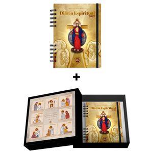 Caixa Quadro Decorativo Mosaico JSC e as Mulheres + Diário Espiritual 2022